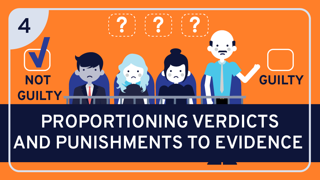 Proportioning Verdicts and Punishments to Evidence
