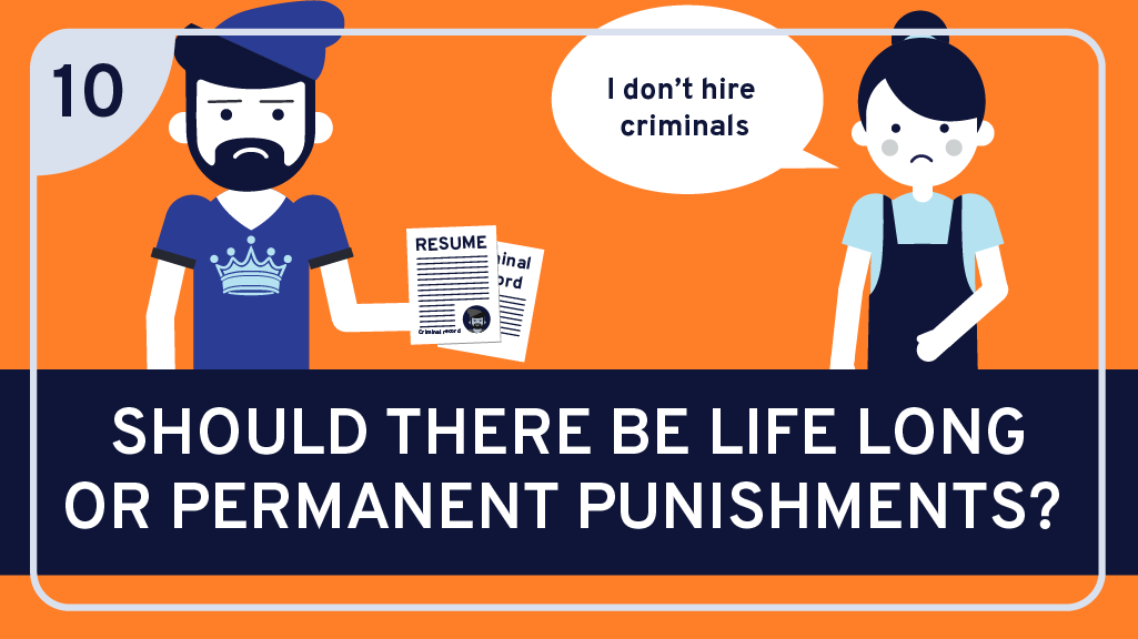 Should there be lifelong or permanent punishments?
